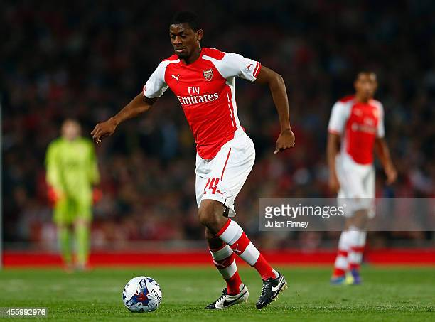 Abou Diaby of Arsenal in action during the Capital One Cup Third Round match between Arsenal and Southampton at the Emirates Stadium on September 23...