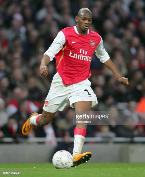 Abou Diaby of Arsenal in action during the FA Cup Sponsored by eon 4th Round match between Arsenal and Newcastle United at the Emirates Stadium on...