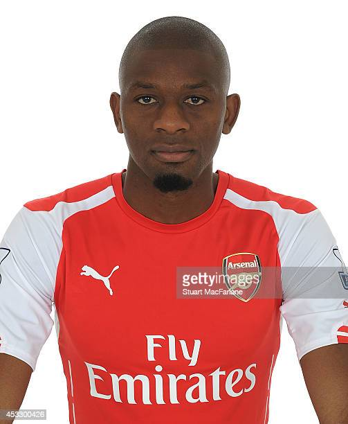 Abou Diaby of Arsenal sits for a photograph at the Emirates Stadium on August 7 2014 in London England