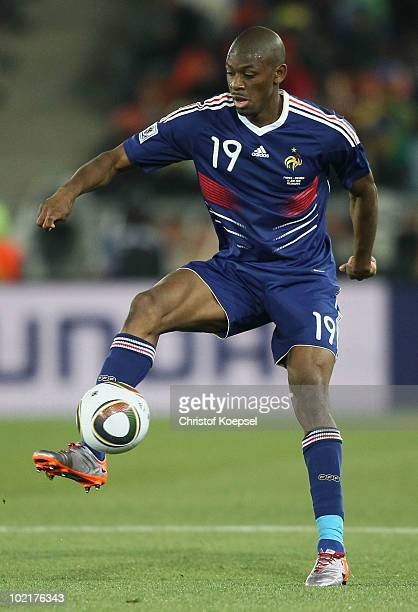 Abou Diaby of France in action during the 2010 FIFA World Cup South Africa Group A match between France and Mexico at the Peter Mokaba Stadium on...