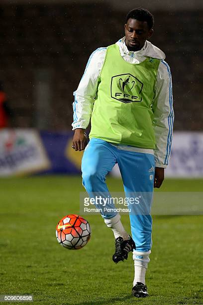 Abou Diaby of Olympique de Marseille during the warm up before the French Cup match between Trelissac FC and Olympique de Marseille at Stade...