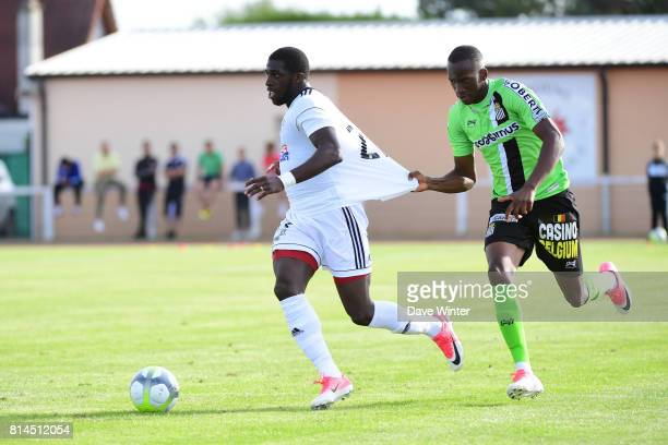 Aboubacar Kamara of Amiens and Dodi Lukebakio of Charleroi during the pre season friendly between Amiens SC and Sporting Charleroi on July 14 2017 in...