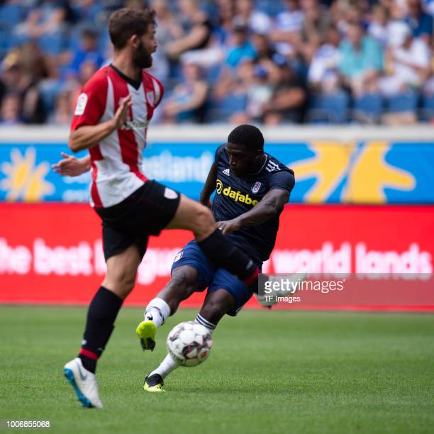 Aboubakar Kamara of FC Fulham scores the team`s second goal during the Cup der Traditionen match between FC Fulham and Athletic Bilbao on July 28...