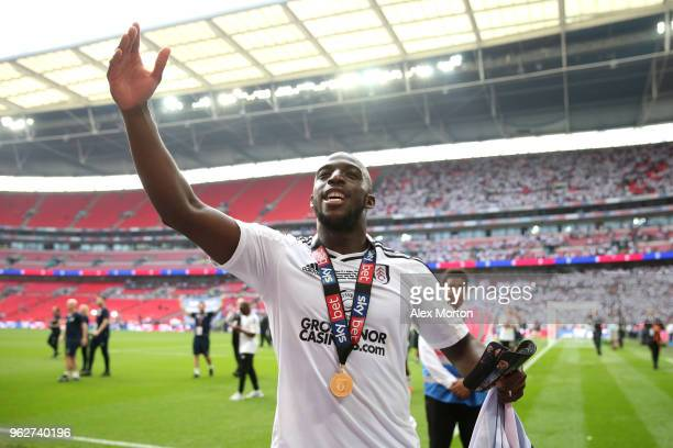 Aboubakar Kamara of Fulham celebrates his sides victory in the Sky Bet Championship Play Off Final between Aston Villa and Fulham at Wembley Stadium...