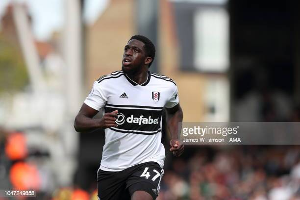 Aboubakar Kamara of Fulham during the Premier League match between Fulham FC and Arsenal FC at Craven Cottage on October 7 2018 in London United...