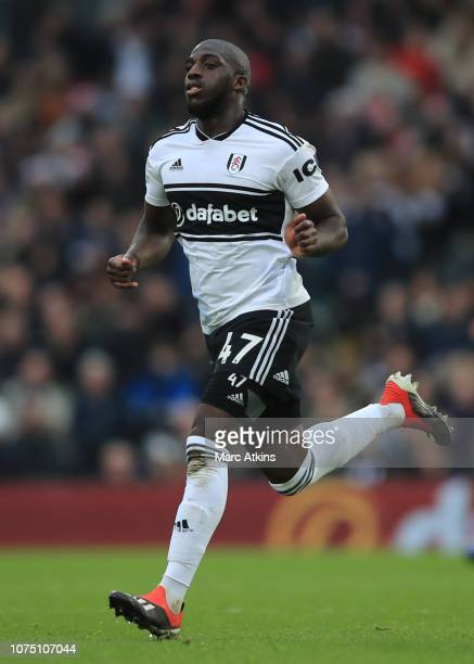 Aboubakar Kamara of Fulham during the Premier League match between Fulham FC and Wolverhampton Wanderers at Craven Cottage on December 26 2018 in...