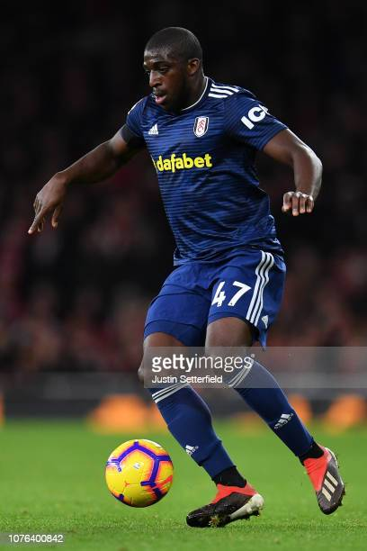 Aboubakar Kamara of Fulham during the Premier League match between Arsenal FC and Fulham FC at Emirates Stadium on January 1 2019 in London United...