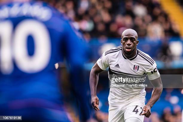 Aboubakar Kamara of Fulham FC running during the Premier League match between Chelsea FC and Fulham FC at Stamford Bridge on December 2 2018 in...