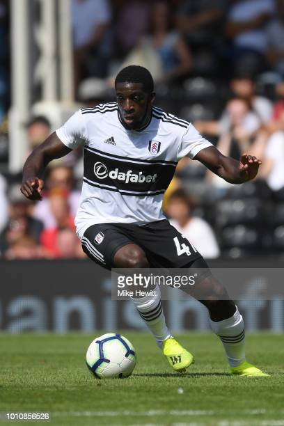 Aboubakar Kamara of Fulham in action during a PreSeason Friendly between Fulham and Celta Vigo at Craven Cottage on August 4 2018 in London England