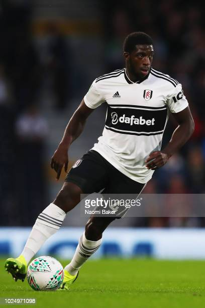 Aboubakar Kamara of Fulham in action during the Carabao Cup Second Round match between Fulham and Exeter City at Craven Cottage on August 28 2018 in...