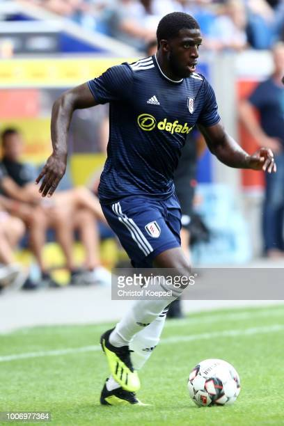 Aboubakar Kamara of Fulham runs with the ball during the second semi final match between FC Fulham and Athletic Bilbao at SchauinslandReisenArena on...