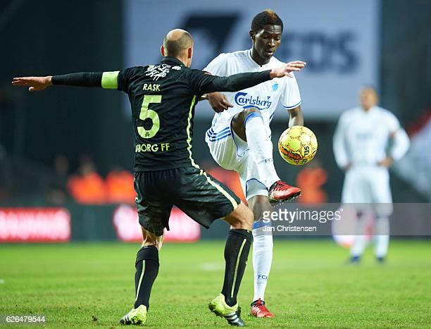 Aboubakar Keita of FC Copenhagen compete for the ball during the Danish Alka Superliga match between FC Copenhagen and Viborg FF at Telia Parken...