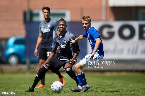 Aboubakar Keita of FC Copenhagen in action during the friendly match between FC Copenhagen and Lyngby Boldklub at KB's baner on June 27 2018 in...
