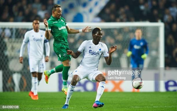 Aboubakar Keita of FC Copenhagen in action during the UEFA Europa League Round of 32 second leg match match between FC Copenhagen and PFC Ludogorets...
