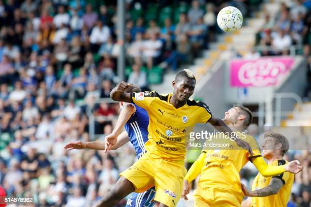 Aboubakar Keita of Halmstad BK during the Allsvenskan match between GIF Sundsvall and Halmstad BK at Idrottsparken on July 15 2017 in Sundsvall Sweden