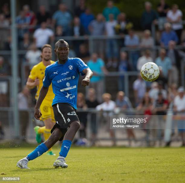 Aboubakar Keita of Halmstad BK during the Allsvenskan match between Halmstad BK and GIF Sundsvall at Orjans Vall on July 22 2017 in Halmstad Sweden