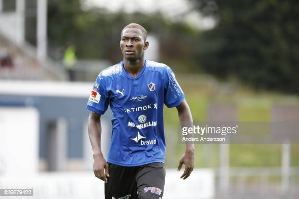 Aboubakar Keita of Halmstad BK during the Allsvenskan match between Halmstad BK and Jonkopings Sodra IF at Orjans Vall on August 5 2017 in Halmstad...