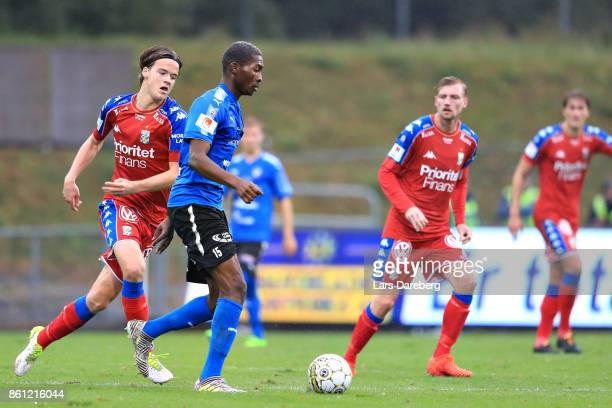 Aboubakar Keita of Halmstad BK during the allsvenskan match between Halmstad BK and IFK Goteborg at Orjans Vall on October 14 2017 in Halmstad Sweden