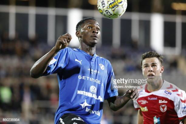 Aboubakar Keita of Halmstad BK receives the ball at Orjans Vall on September 20 2017 in Halmstad Sweden
