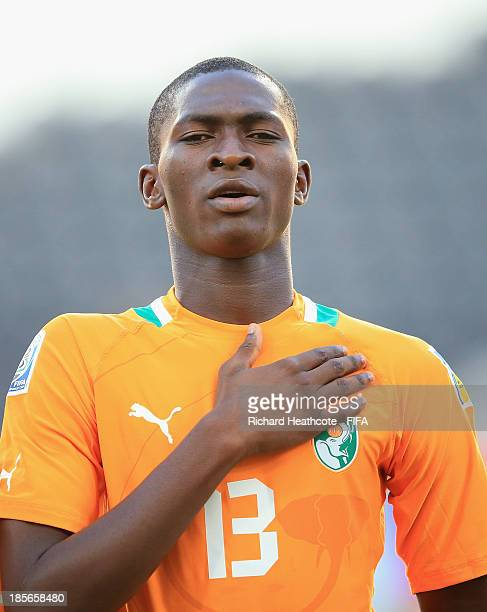 Aboubakar Keita of Ivory Coast during the FIFA U17 World Cup UAE 2013 Group B match between New Zealand and Ivory Coast at the Mohamed Bin Zayed...