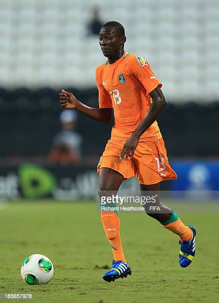 Aboubakar Keita of Ivory Coast in action during the FIFA U17 World Cup UAE 2013 Group B match between New Zealand and Ivory Coast at the Mohamed Bin...