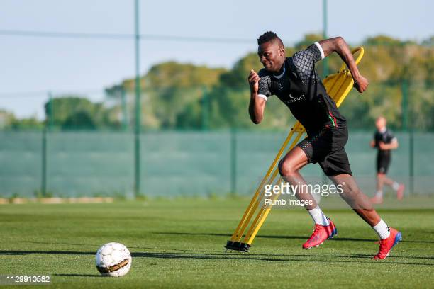 Aboubakar Keita of OH Leuven during the OH Leuven training camp at La Finca Golf Spa Resort on March 11th 2019 in Algorfa Spain