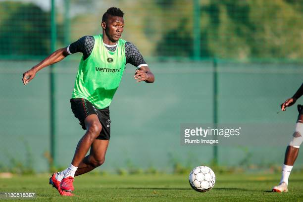 Aboubakar Keita of OH Leuven during the OH Leuven training camp at La Finca Golf Spa Resort on March 14th 2019 in Algorfa Spain