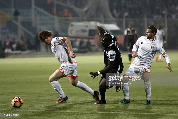 Aboubakar of Besiktas in action during the Turkish Spor Toto Super Lig match between Adanaspor and Besiktas at Adana 5 Ocak Fatih Terim Stadium in...
