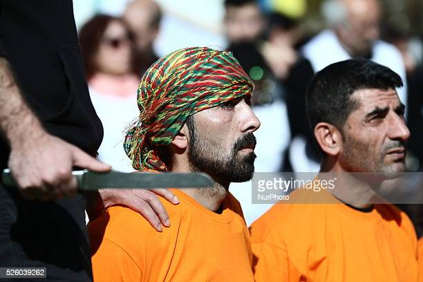 About 100 Kurdish people gathered in Brussels in front of the European Parliament to ask the EU to help prevent a massacre in the Kurdish town of...