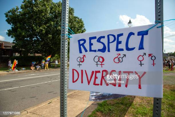 About 100 people participated in a Pride Rally in Milton Pennsylvania on August 8 2020 The I Am Alliance organized the event after an area grocery...