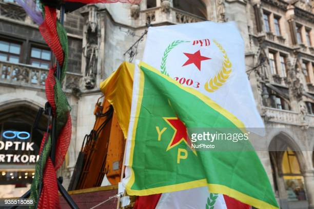 About 150 mostly Kurds joined the Newroz festivities in Munich Germany on March 20 2018 They celebrated their new year and also protested against the...