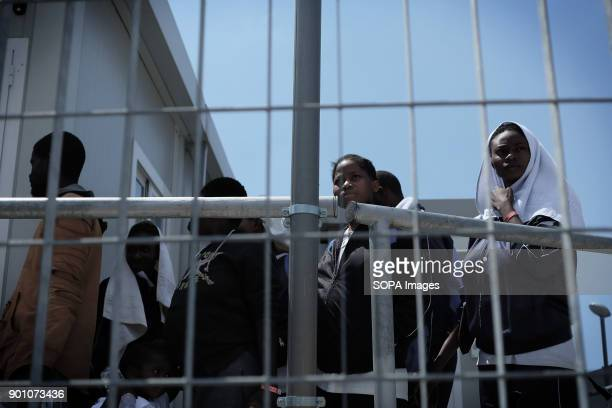 About 1500 african refugees land in Naples from Vos Prudence a rescue boat of Medecins Sans Frontieres On May 28th 2017 'Vos Prudence' a rescue boat...