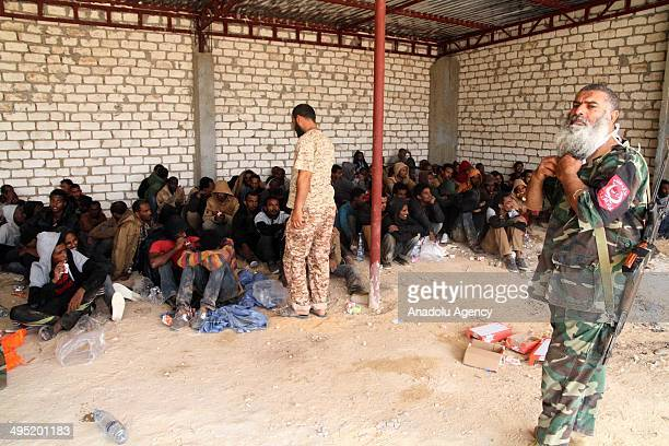 About 200 migrants mostly from Ethiopia and Eritrea have been detained in the coastal town of Zawiya west of Tripoli as they tried to cross to Europe...