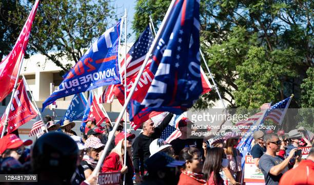 About 300 people participated in a pro-Trump election integrity rally at the Orange County Registrar of Voters offices in Santa Ana, CA on Monday,...