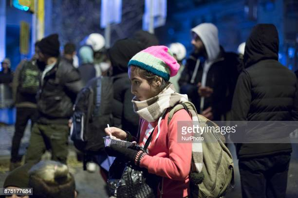 About 300 refugees and migrants tried to march to the Greek-FYROM borders and the area of Idomeni on 16 November 2017. The asylum-seekers tried to...