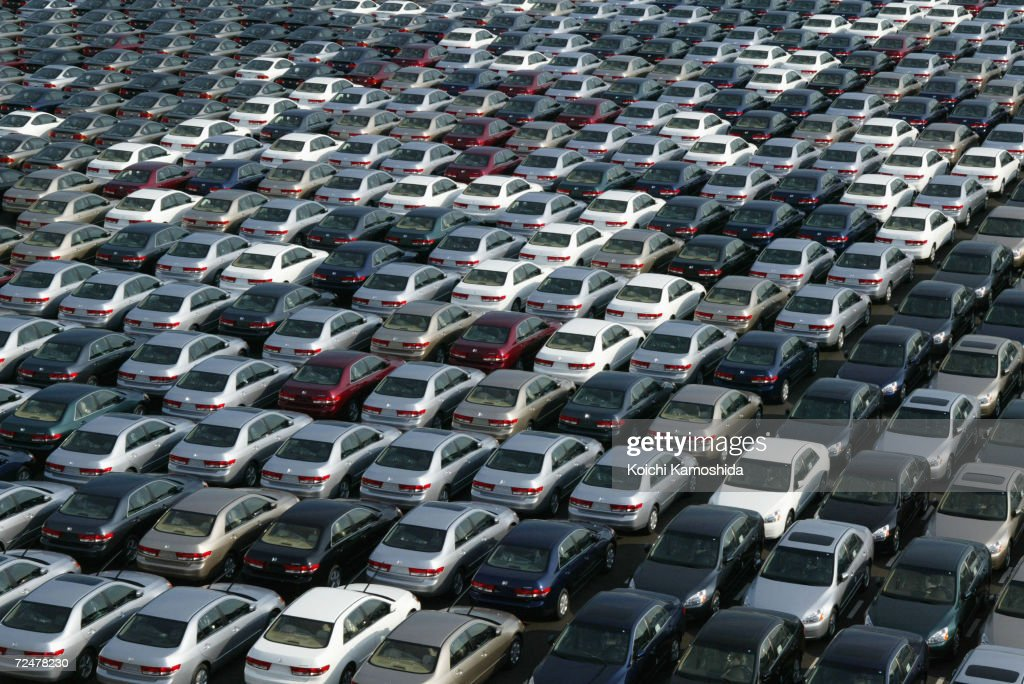 About 3000 Honda Cars Wait To Be Exported North America At A Port January 17
