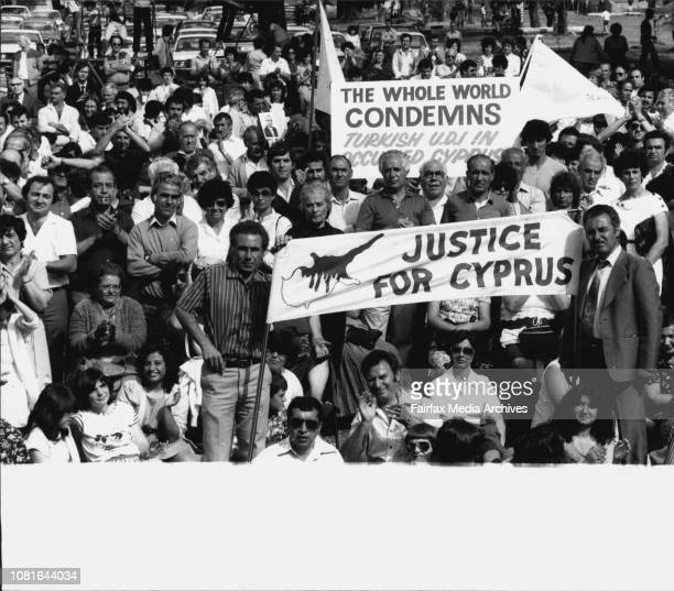About 3000 people mostly Cypriots attended public meeting protesting against last development in Cyprus Meeting was at the old army barracks at...