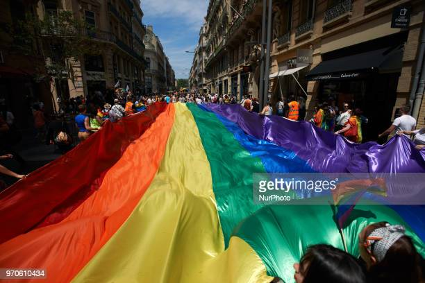 About 30000 people took to the streets of Toulouse for the annual pride march Toulouse France June 09th 2018