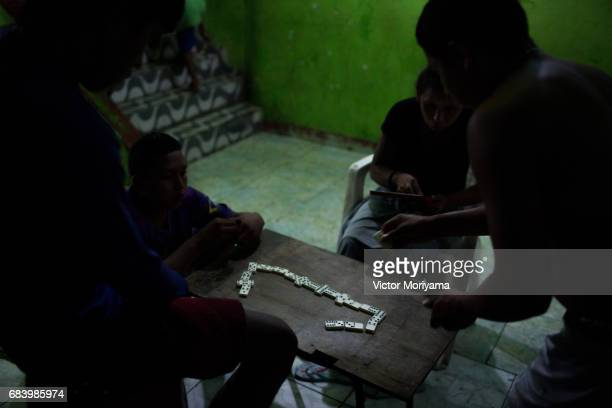 About 350 Warao Indians live in public squares and old mansions in central Manaus on May 16 2017 in Manaus The economic crisis and lack of food in...