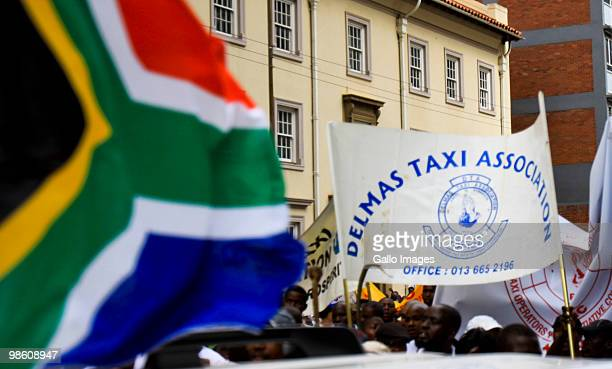 About 4000 members from different taxi organizations march from the city centre to the Union Building in Pretoria to hand over a memorandum to the...