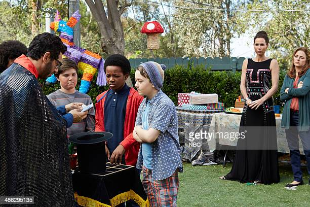 BOY 'About a Birthday Party' Episode 111 Pictured Al Madrigal as Andy Benjamin Stockham as Marcus Minnie Driver as Fiona Annie Mumolo as Laurie Photo...