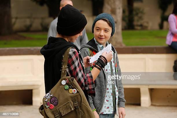 BOY About a Boyfriend Episode 213 Pictured Izabela Vidovic as Shea GarciaMiller Benjamin Stockham as Marcus