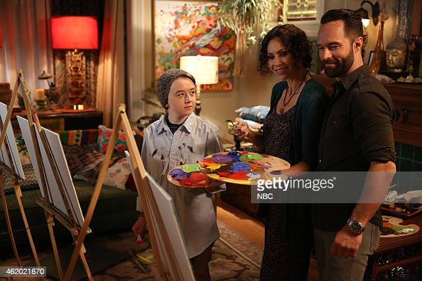 BOY 'About a Hook' Episode 211 Pictured Benjamin Stockham as Marcus Minnie Driver as Fiona Chris Diamantopoulos as Mr Chris