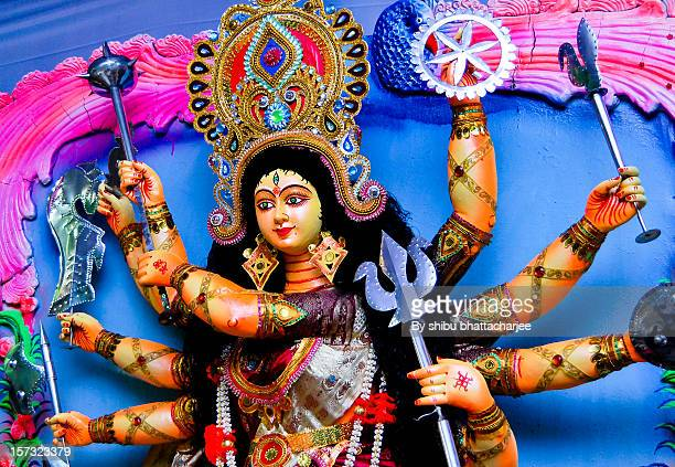 about goddess durga - mystic goddess stock photos and pictures
