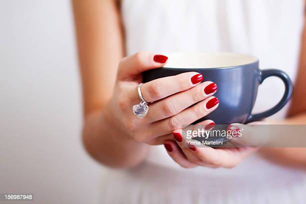 about love. - red nail polish stock pictures, royalty-free photos & images