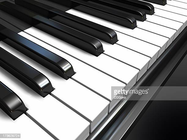 about music - piano key stock pictures, royalty-free photos & images