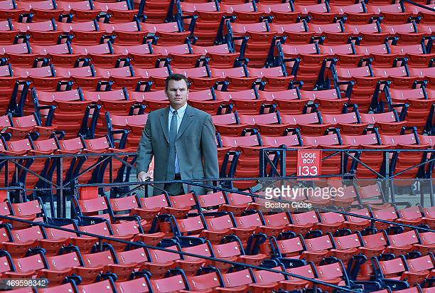 About three and a half hours before the first pitch Red Sox general manager Ben Cherington walks through empty seats behind home plate The Boston Red...