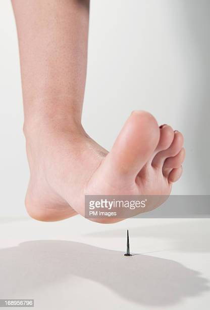 About to step on nail