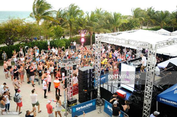 Above and Beyond perform ay the event honoring Steve Aoki with a plaque for his single 'Just Hold On' at 1 Hotel Homes South Beach on March 23 2017...