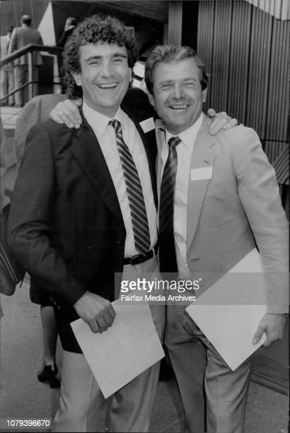 Awardwinning Zuzza brother Guiseppe of The Mixing Pot and brother Aldo of Darcy's live it up at The Opera House October 22 1986